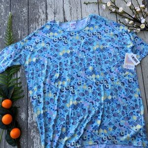 LuLaRoe Blue Acorn Irma Tunic Top